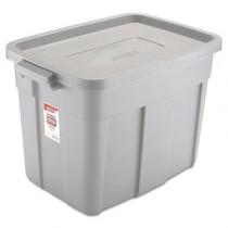 Rubbermaid 2215 Roughneck Storage Box 18 Gallon - Gray