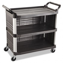 Rubbermaid 4093 Xtra Utility Cart 300-lb Cap. 3 Shelves - Black