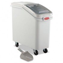Rubbermaid 3600-88 ProSave Mobile Ingredient Bin 20.57 gallon - White