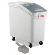 Rubbermaid 3602-88 ProSave Mobile Ingredient Bin 26.18 gal - White