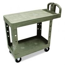 Rubbermaid 4505 Flat Shelf Utility Cart 2-Shelf - Beige