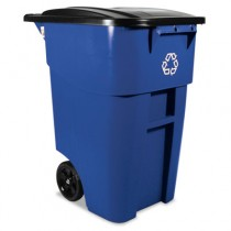 Rubbermaid 9W27-73 Brute Recycling Rollout Container, 50 gal - Blue