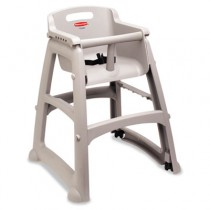 Rubbermaid 7805-08 Sturdy High Chair Fully Assembled With Wheels - Platinum