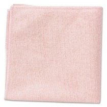"Rubbermaid 1820581 Microfiber Cleaning Cloths 16"", 24 per Pack - Red"