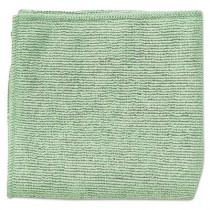 "Rubbermaid 1820583 Microfiber Cleaning Cloths 16"", 24/Case - Green"