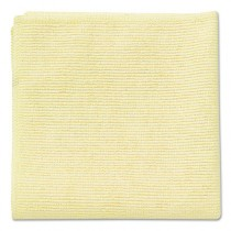 "Rubbermaid 1820584 Microfiber Cleaning Cloths 16"", 24 per Pack - Yellow"