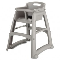 Rubbermaid 7806-08 Sturdy High Chair Fully Assembled w/o Wheels - Platinum