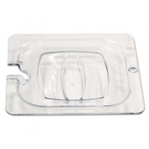 Rubbermaid 108P-86 Cold Food Pan Cover, Notched, 1/6 Size - Clear