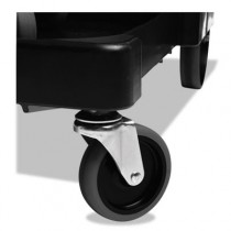 """Rubbermaid 1878367 Executive Quiet Caster and Ball Bearing Wheel Kit, Black, 8"""" Wheels, 4"""" Casters"""