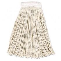 Rubbermaid V156 Economy Cotton Mop Heads, 16 oz Cut-End 12/Case - White