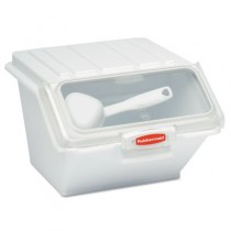 Rubbermaid 9G60 ProSave Shelf-Storage Ingredient Bin w/Scoop - White