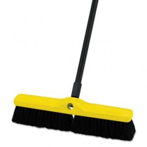 "Rubbermaid 9B06 Medium Floor Sweeper, 18"" Brush, 3"" Bristles - Black"