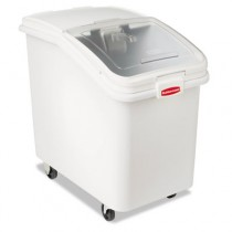 Rubbermaid 3603-88 ProSave Mobile Ingredient Bin, 30 gallon - White