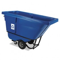 Rubbermaid 1305-73 Tilt Truck-Bulk Collection Recycling - Blue