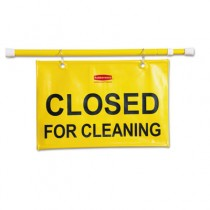 Rubbermaid 9S15 Site Safety Hanging Sign - Yellow