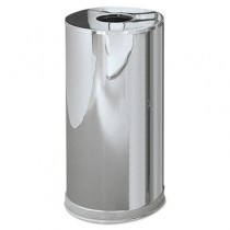 Rubbermaid CC16MCGL Atrium Steel Containers, 15 Gal - Stainless Steel