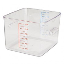 Rubbermaid 6312 SpaceSaver Square Containers, 12 qt - Clear