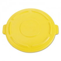 Rubbermaid 2654 Brute Lid for 55 Gallon 2655, Case of 3 - Yellow