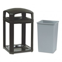 Rubbermaid 3970 Landmark Container, Frame with 3958 Rigid Liner - Sable