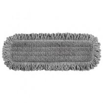 """Rubbermaid 1867397 Pulse Single-Sided Microfiber Dust Mop Head, 18"""" 6/Case - Gray"""
