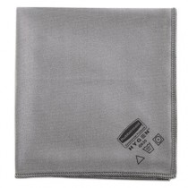 Rubbermaid 1867398 Executive Glass Microfiber Cloths - 24 Cloths - Gray