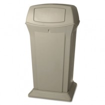 Rubbermaid 9175 Ranger 65 Gallon Container with 2 Doors - Beige
