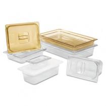 Rubbermaid 3456 Hot Food Pan Drain Tray 1/6 Size - Amber