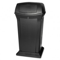 Rubbermaid 9175 Ranger 65 Gallon Container with 2 Doors - Black