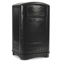 Rubbermaid 3964 Plaza Indoor/Outdoor Container 50 gallon - Black