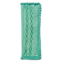 Rubbermaid 1791792 Dust/Wet Fringed Microfiber Pad 6/Case - Green