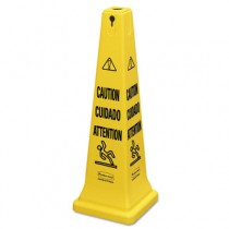 "Rubbermaid 6276 Multilingual Safety Cone, ""CAUTION"" - Yellow"