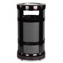 Rubbermaid A17SU-BKPL Steel Mesh Outdoor Receptacle 17 gal - Black