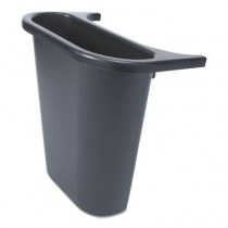 Rubbermaid 2950-73 Saddle Basket Recycling Bin - Black