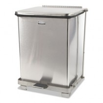 Rubbermaid ST7SSRB Medical Step Can, Square 7 gallon - Stainless Steel