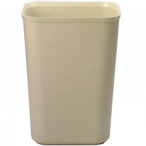 Rubbermaid 2544 Fire-Resistant Wastebasket Fiberglass 10 gallon - Beige