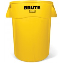 Rubbermaid 2655 Brute Container Round 55 gallon 3/Case - Yellow