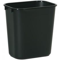 Rubbermaid 2956 Deskside Wastebasket 28 Quart - Black
