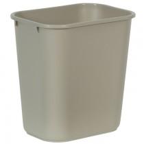 Rubbermaid 2956 Deskside Wastebasket 28 Quart - Beige