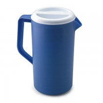 Rubbermaid 3062PR Plastic Three-Way-Lid Pitcher, 36oz - Blue