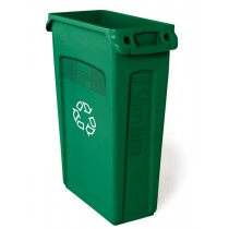 Rubbermaid 3540-07 Slim Jim Recycling w/Venting Channels 23 gallon - Green