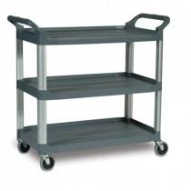 Rubbermaid 4091 Utility Cart 3-Shelf - Gray