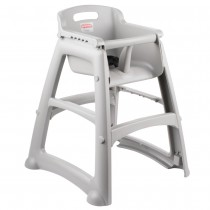 Rubbermaid 7814-08 Sturdy High Chair Assembly Required, w/o Wheels - Platinum