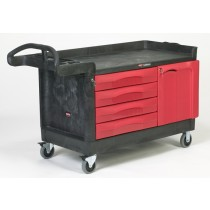 Rubbermaid 4548-88 TradeMaster Cart with 4-Drawer and Cabinet X-Large