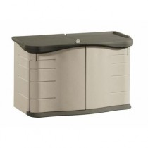 Rubbermaid 3748 Horizontal Storage Shed - Olive/Sandstone