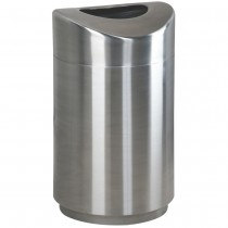 Rubbermaid R2030SSPL Open Top Steel Waste Receptacle 30 gallon