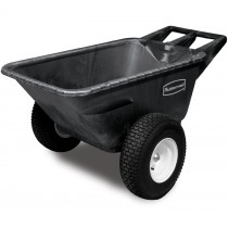 Rubbermaid 5642-10 Big Wheel Heavy Duty Cart 7.5 CU FT - Black