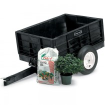 Rubbermaid 5662-61 Tractor Cart 8 CU FT - Black