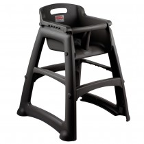 Rubbermaid 7806-08 Sturdy High Chair Fully Assembled w/o Wheels - Black