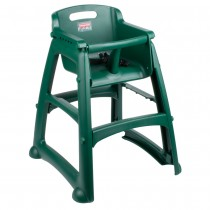 Rubbermaid 7806-08 Sturdy High Chair Fully Assembled w/o Wheels - Green