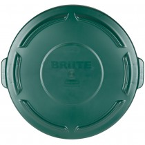 Rubbermaid 2654 Brute Lid for 55 Gallon 2655, Case of 3 - Green